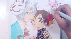 Drawing Tomoe & Nanami from Kamisama Hajimemashita 神様はじめました