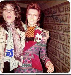 ethanjclark93:  David Bowie and David Johanson. 1973
