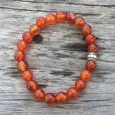 Healing Bracelets, Crystal Bracelets, Crystal Beads, Sacral Chakra Stones, Brass Pendant, Carnelian, Crystals And Gemstones, Reiki, Crystal Healing