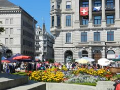 Flohmarkt in Zürich im September 2012 September, Street View, Building, Switzerland, Construction, Buildings