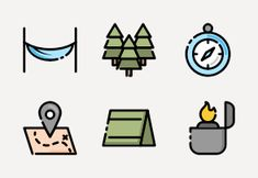 'Camping Holiday' by AK con Camping Holiday, Beach Holiday, Camping Icons, Holiday Icon, Epic Games Fortnite, Outdoor Camping, Outline, Tourism, Outdoors