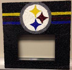 Mosaics - Pittsburg Steelers frame by Sheila E