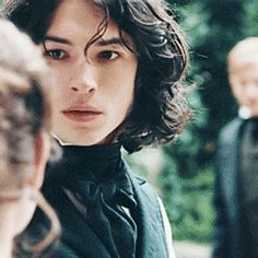 "neverwhere: "" fireworkofdec: ""  Madame Bovary / Ezra Miller / Leon Dupuis "" Ezra Miller should be cast as every dark haired luscious cheekboned male character in existence sweet jesus he's so..."