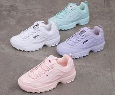 shoes sneakers fila New colors of Disruptor which one is your favorite White Fila Sneakers Outfit colors Disruptor Favorite Fila footish Cute Sneakers, Shoes Sneakers, Chunky Sneakers, Chunky Shoes, Sneakers Adidas, Yeezy Shoes, Girls Sneakers, Shoes Men, New Shoes