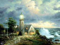 Lighthouse Pictures Thomas Kinkade | postado por susy mello as 07 35 enviar por e mail blogthis ...