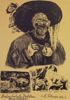 Gyulai Líviusz: Balzac illustráció III. Mona Lisa, Artwork, Work Of Art, Auguste Rodin Artwork, Artworks, Illustrators