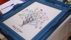 Cómo transformar un marco vintage en un árbol de huellas o una pizarra con pintura de tiza o chalkpaint.
