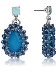 Karma Turquoise Statement Crystal Earrings  #statement #jewelry