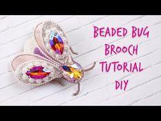 Beaded Bug Brooch. Tutorial DIY - YouTube