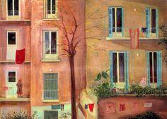 .:ΜΙΓΑΔΗΣ  Γιάννης – Yannis MIGADIS  [1926] Πίσω όψις πολυκατοικιών