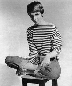 beatnik black and white striped top womens - Google Search