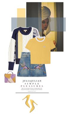 """""""Simple Pleasures"""" by juhh ❤ liked on Polyvore featuring So It Goes, Burberry, Gucci, Geneve and Mark Cross"""