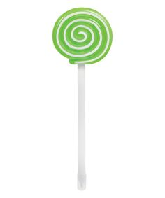 Green Light Up Lollipop Pen