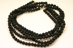 2strands natural lava stone plain ball sized 8mm by 3yes on Etsy