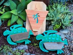 Aloha 🌴 this fun collection went to Hawaii last week 🐢wish I was the one delivering them! 🏝️ Wooden Containers, Succulents In Containers, Wood Planters, Hanging Planters, Dish Garden, Succulent Arrangements, Tropical Vibes, Plant Wall, Air Plants