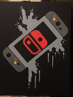 Nintendo Switch Video Game Controller Painting, Video Game Art, Hand Painted, Custom Colors,Custom W games crafts Video Game Decor, Video Game Art, Video Game Drawings, Video Games, Nintendo Switch, Gamer Room, Gaming Wallpapers, Painting Videos, Game Controller