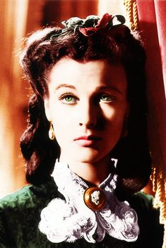 Gone With the Wind As Vivian Leigh's eyes were blue, filters were used on the film in close-up shots to make her eyes appear green.