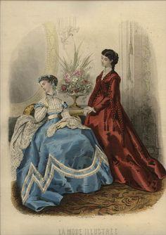 1867 ... LA MODE  ILLUSTREE engraving