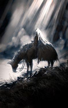 """Headless Horseman""   Artist: Arnaud De Vallois"