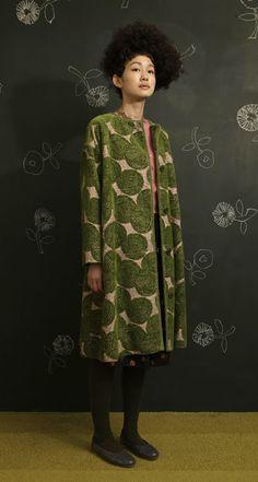 Coat (2009) by Japanese designer Mina Perhonen. via ii-ne-kore