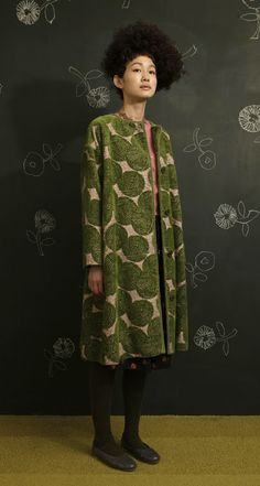 Coat (2009) by Japanese designer Mina Perhonen. via ii-ne-kore