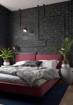 Ontdek hoe u: Ontvang Tips toe Te Passen Industriële Slaapkamer Interieur Industrial Bedroom Design, Industrial Vintage, Modern Industrial Decor, Bedroom Minimalist, Modern Bedroom Furniture, Loft Design, Awesome Bedrooms, Home Interior Design, Home Decor