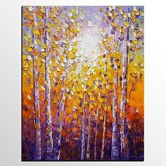 canvas art landscape painting original oil painting abstract wall art modern art