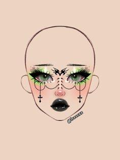 Indie Makeup, Edgy Makeup, Makeup Inspo, Makeup Inspiration, Graphic Makeup, Makeup Face Charts, Drawing Tips, Makeup Looks, Eyeliner