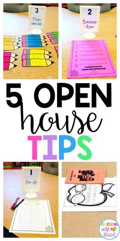 The beginning of the year is always a whirlwind with the first few days of school and Open House/Visitation. Whether you have your Open Hou… - Kindergarten Lesson Plans Open House Activities, Preschool Open Houses, First Day Of School Activities, Preschool Classroom, Classroom Ideas, Future Classroom, First Year Teaching, Classroom Supplies, Visiting Teaching