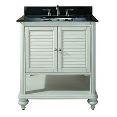 Avanity Tropica 30 in. W x 21 in. D x 34 in. H Vanity Cabinet Only in Weathered White-TROPICA-V30-AW at The Home Depot