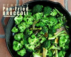 Perfect Pan-Fried Broccoli, the Cooks Illustrated technique for crisp, perfectly cooked broccoli, its the only way I cook broccoli anymore!