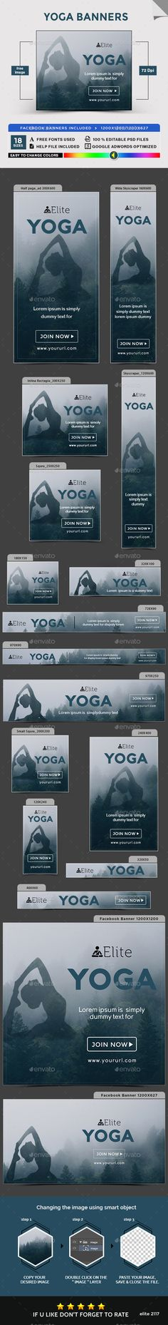 Yoga Banners - Banners & Ads Web Elements Download here : https://graphicriver.net/item/yoga-banners/19380046?s_rank=94&ref=Al-fatih