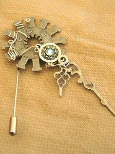 Steampunk hat pin