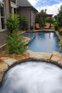 want this dream pool and hot tub small backyard - Backyard Pool Designs For Small Yards