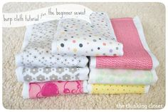 Burp Cloth Tutorial for the Beginner Sewist by The Thinking Closet