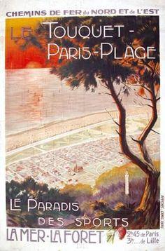 chemins de fer du nord et de l'est - Le Touquet Paris-Plage - 1913 -