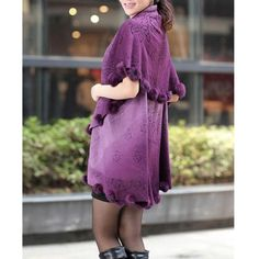 >> Click to Buy << SAF 2016 NEW Womens Loose Knitting Batwing Wool Poncho Jacket Winter Warm Cloak Coat Cardigan Purple #Affiliate