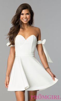 Short Spaghetti Strap Sweetheart Dress
