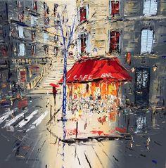 Zantman Art Galleries Patrick  Rousseau Chez Bebert