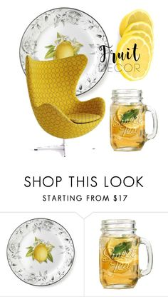 """Lemon"" by catalina86 ❤ liked on Polyvore featuring interior, interiors, interior design, home, home decor, interior decorating, Williams-Sonoma and fruitdecor"