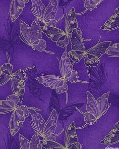 Fancy Flight - Cloisonné Butterflies - Amethyst/Gold