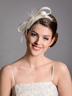 White bridal hat. White wedding fascinator hat. New design in 2021 collection. Bridal Fascinator, Bridal Hat, Wedding Fascinators, Fascinator Hats, Wedding Hats, Ivory Wedding, Wedding Reception Planning, Silk Organza, White Bridal