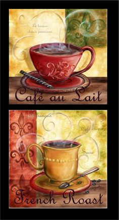Tre Sorelle Art for Home Decor Wine Theme Kitchen, Grape Kitchen Decor, Diner Decor, Paisley Art, Cafe Art, Coffee Crafts, Decoupage Art, Tea Pot Set, Coffee Signs