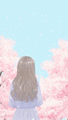 Pin Image by Fact Aesthetic Cute Cartoon Girl, Cute Girl Face, Cute Cartoon Wallpapers, Pretty Wallpapers, Cover Wattpad, Girl Face Drawing, Kawaii Illustration, Korean Illustration, Tumblr Art