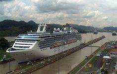 Island princess cruise ship in panama canal What a wonderful cruise!!