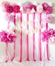 可愛いフォトブース ピンク Happy Birthday Girls, 4th Birthday Parties, Birthday Party Favors, Baby Birthday, Birthday Party Decorations, Birthday Crowns, Pink Princess Party, Pretty Pink Princess, Princess Party Favors