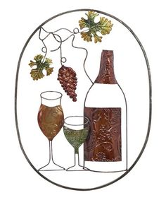 Take a look at this Rustic Vinyard Wall Art by UMA Enterprises on #zulily today!