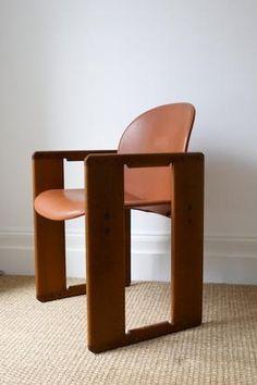 Afra and Tobia Scarpa Dialogo Chairs.  B Italia, 1973.