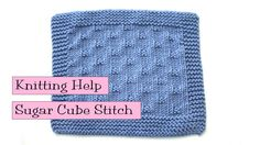 Fancy Stitch Combo - learn the Sugar Cubes Stitch with Very Pink Knits!