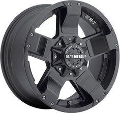 Mickey Thompson Metal Series MM-245B 1-Piece Black Alloy Wheel
